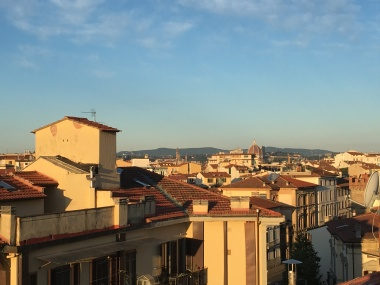 "view of Florence from ""Terrace with a View"" apartment"