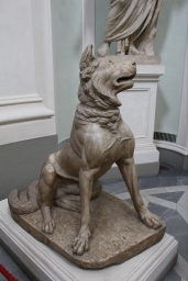 guard dog in the Uffizi