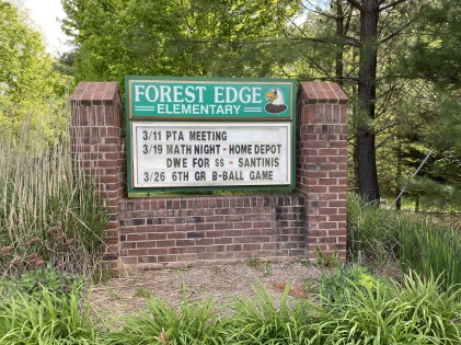 Forest Edge Elementary School - a calendar frozen in time