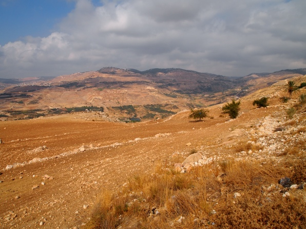 view along the road to the Dead Sea
