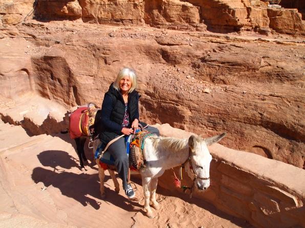 me on the donkey
