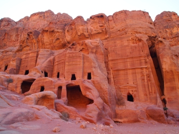 walking out of Petra