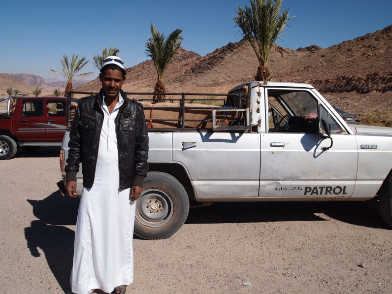 Our driver in Wadi Rum