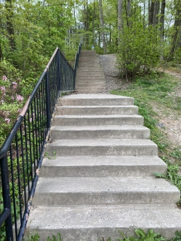 steps at Lake Audubon
