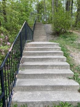 steps at Lake Audubon