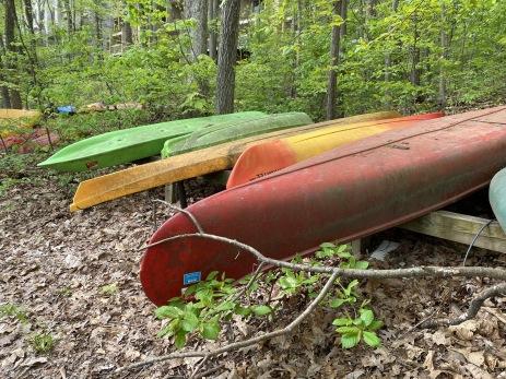 canoes at Lake Audubon