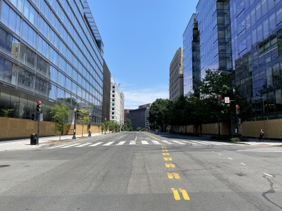 17th St. - normally a busy D.C. street