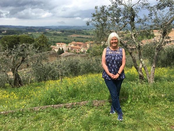 me outside Rocca di Montestaffoli San Gimignano