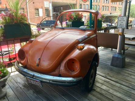 half a Volkswagen at Fairmont Antiques and Mercantile