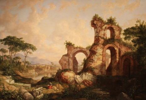 Roman Ruins in Southern Italy, 1848, by Daniel Huntington