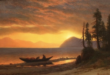 The Trappers, Lake Tahoe, ca. 1870s, by Albert Bierstadt