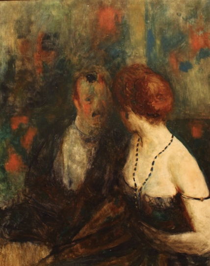 Couple at Maxims by Guy Pène Du Bois