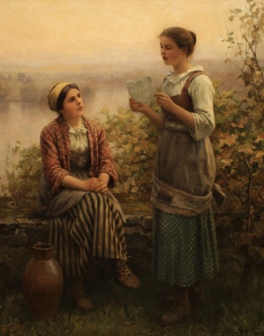 The Letter, 1911, by Daniel Ridgway Knight