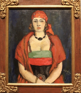 Woman with Black Necklace, 1928, by Walk Kuhn