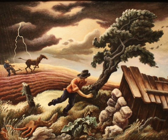 The Hailstorm, 1940, by Thomas Hart Benton