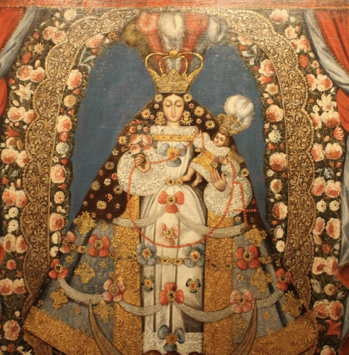 Virgin of the Rosary, late 18th century, Bolivian - artist unknown