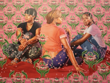 Three Girls in a Wood, 2018, by Kehinde Wiley