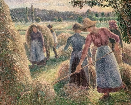 Haymakers, Evening, Eragny, 1893 by Camille Pissarro
