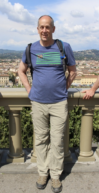 Mike at Piazzale Michelangelo