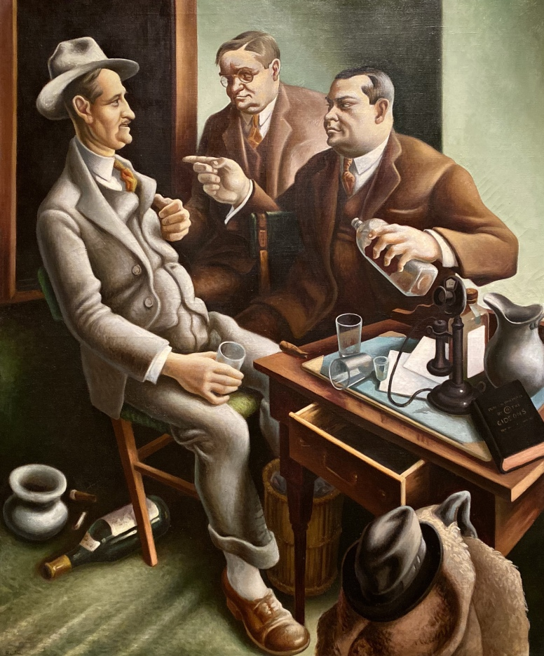 Preparing the Bill, 1934, Thomas Hart Benton