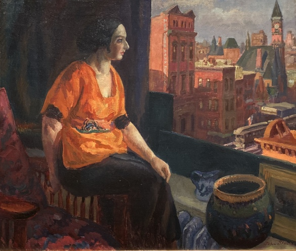 Stein at Window, Sixth Avenue, 1918, by John Sloan