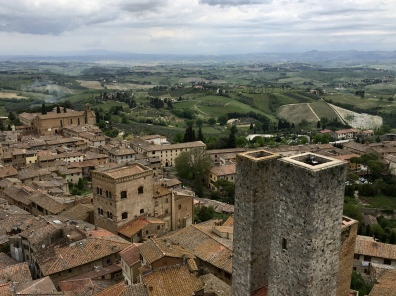 view of San Gimignano from Torre Grossa