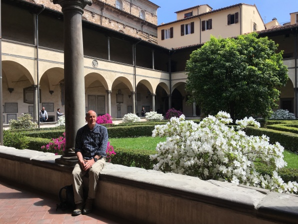 Mike at the cloister