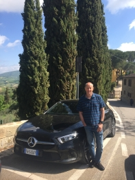Mike with our car in Montefioralle