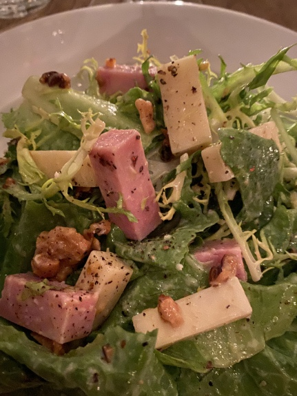 salad with ham & cheese