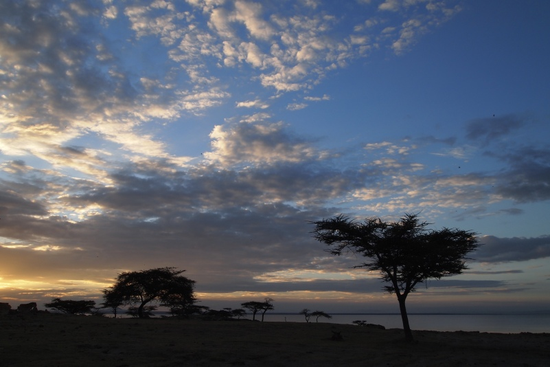 sunset at Lake Langano