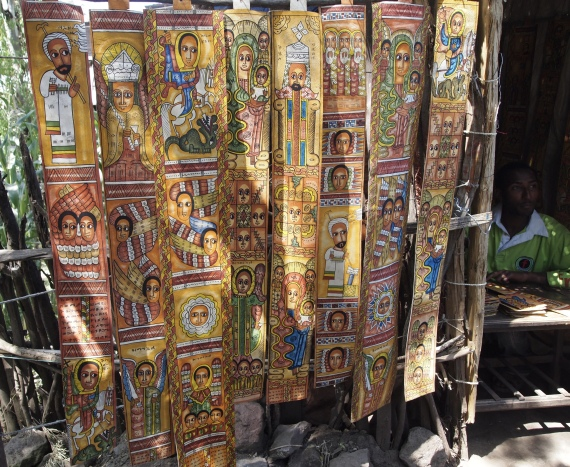 scrolls in Lalibela