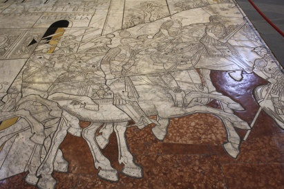 the Duomo's inlaid marble floors