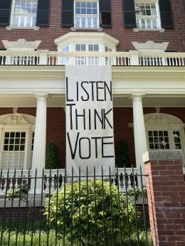 LISTEN THINK VOTE