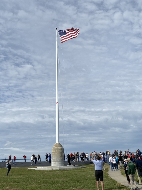 raising of the flag at Fort Sumter
