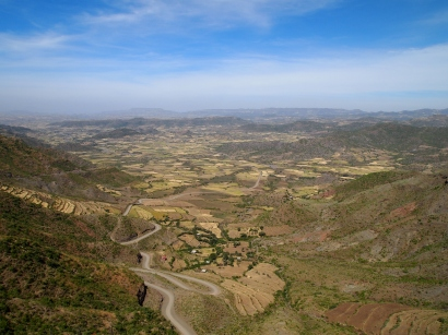 view from Mountain View Hotel Lalibela