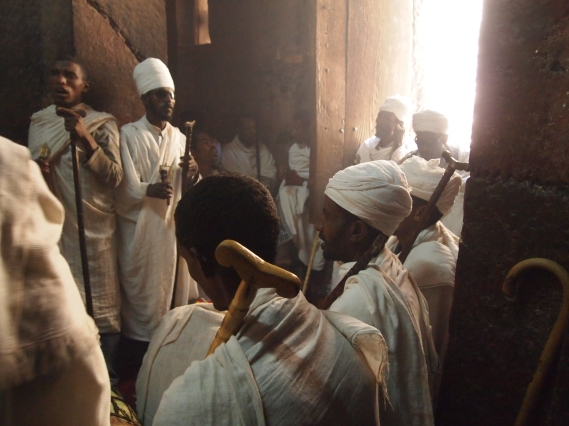 a chanting service in Bet Mikael