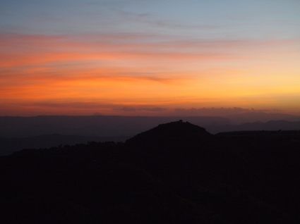 sunset from Mountain View Hotel Lalibela
