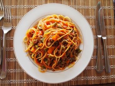 pasta for dinner