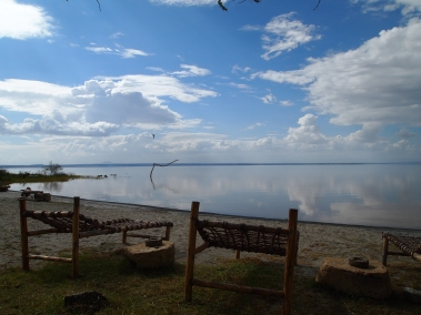 beach at Lake Langano