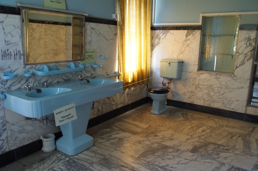Haile Selassie's bathroom