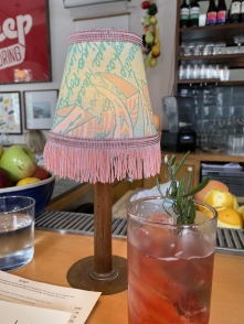 fringed lamps at Basic Kitchen