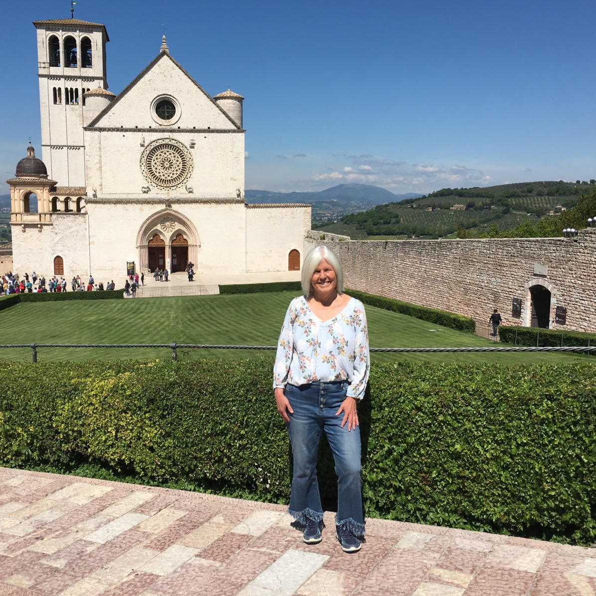 me at the Basilica di San Francesco