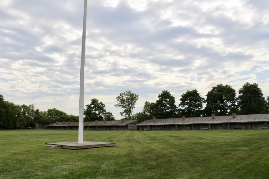 flagpole at Fort Atkinson