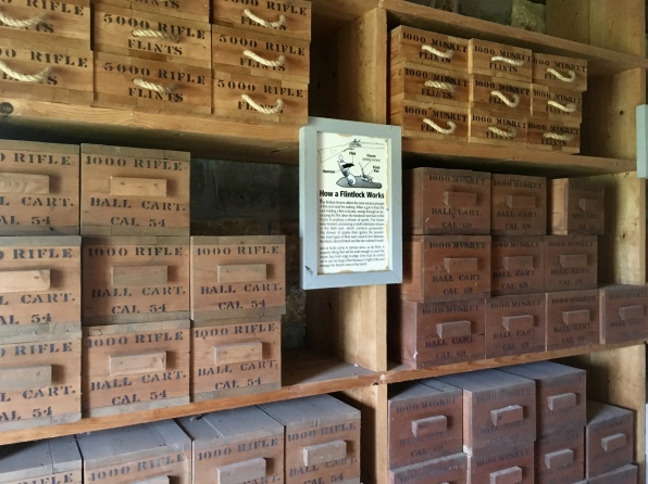 munitions in the powder magazine