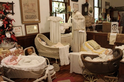 baby cribs in the Swedish Heritage Center