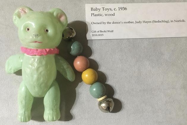 Baby toys, c. 1936
