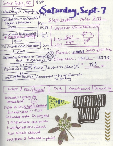 Journal pages from Saturday, September 7, 2019