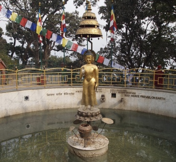 a wishing pool near Swayambhu