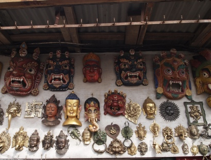 Buddha heads at Swayambhu