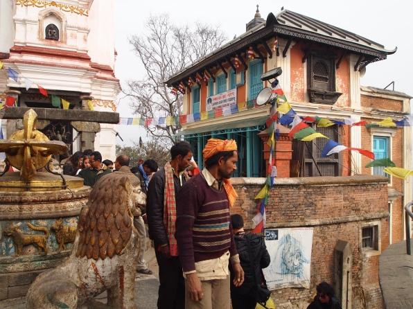 pilgrims at Swayambhu